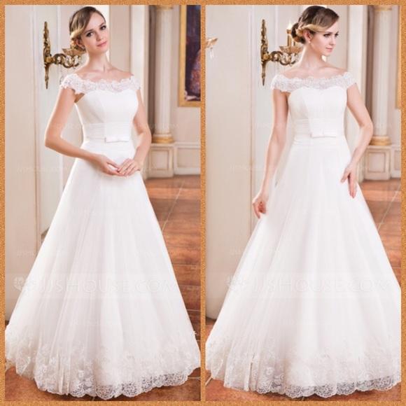 Jjshouse Dresses New Ball Gown Shoulder White Wedding Dress 12 16